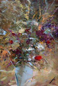 Натюрморт с полски цветя от Александър Асенов
