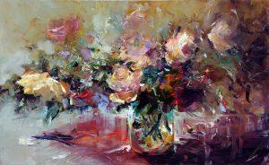 Натюрморт с рози N 77