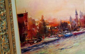 Градски пейзаж с река от Александър Асенов