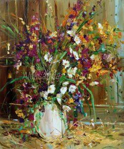 Натюрморт с полски цветя 14 N