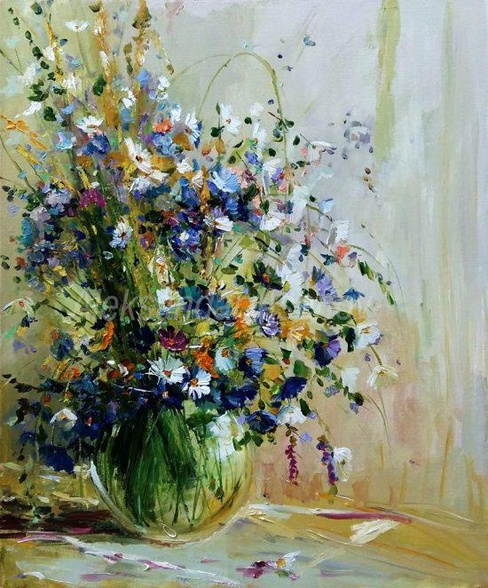 Натюрморт с полски цветя 15 N