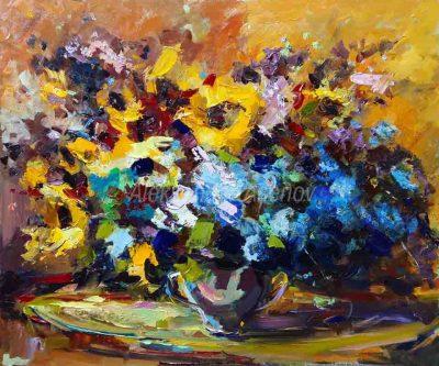 Натюрморт със слънчогледи - номер 2