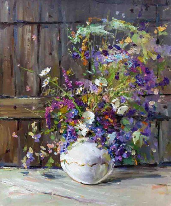 Натюрморт с полски цветя - номер 9