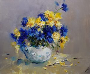 Натюрморт с полски цветя