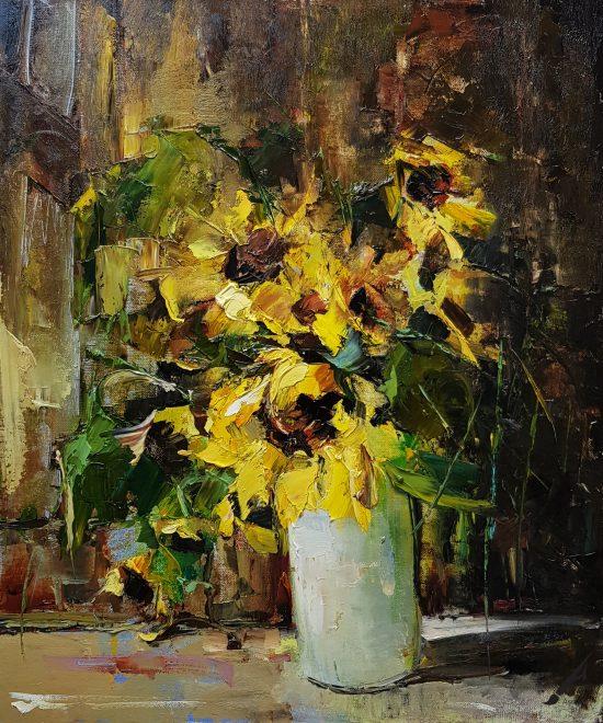 Натюрморт със слънчогледи № 182 N