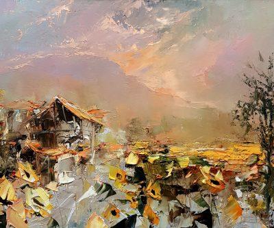 """Пейзаж """"Тишината на залязващото слънце"""""""